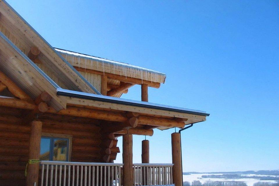 Prairie View From Log Farm House