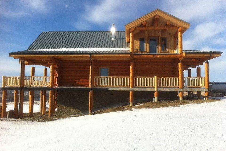 Log Farm House Ready for Landscaping