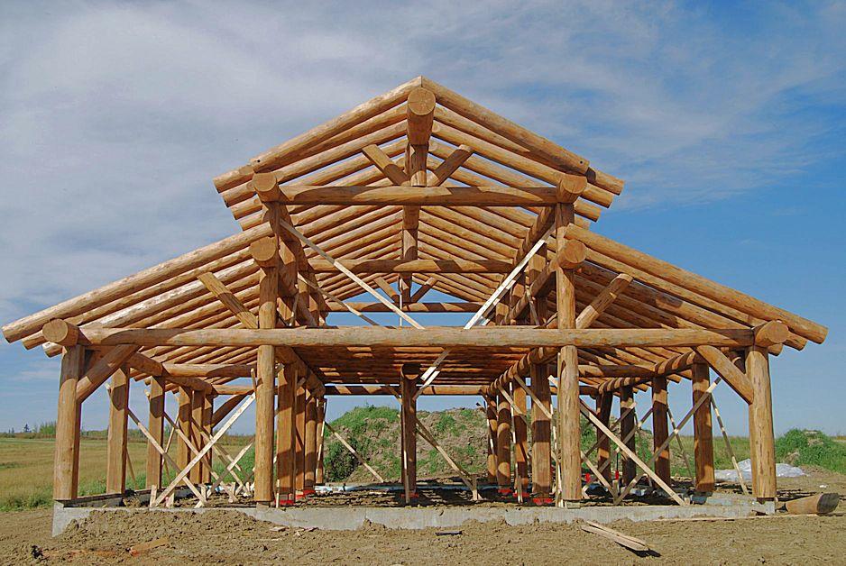 Log Barn Construction
