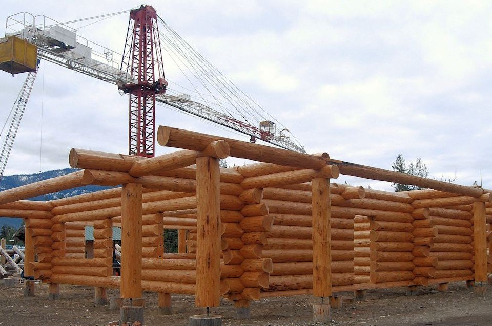 Protective Finish Enhances the Logs