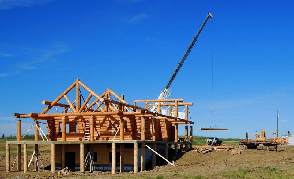 Reassembly of a Log Farm House