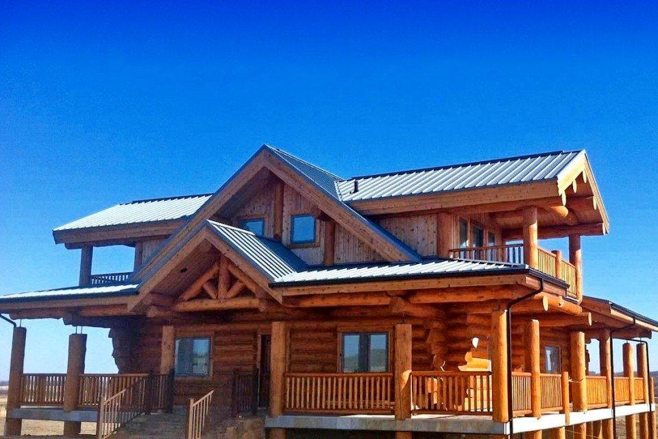 Rustic Log Farm House