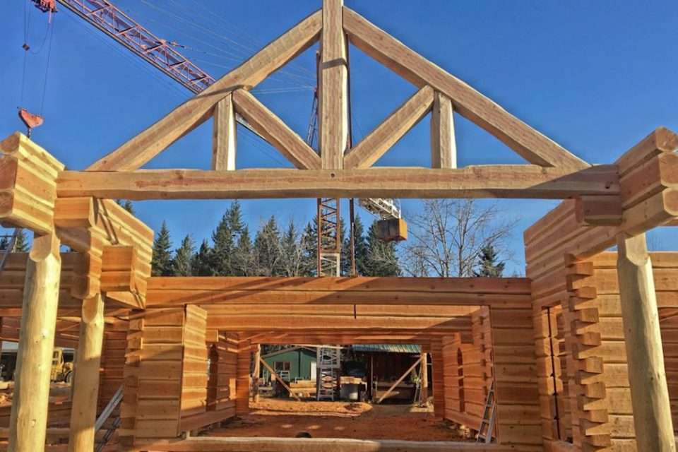 Dovetail Log House Construction 1