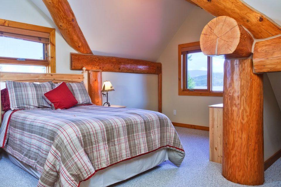 Log Cabin Loft Sleeping Area