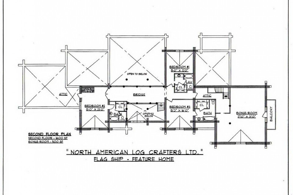 Log House Loft Plan