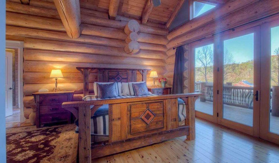 Log House Master Bedroom